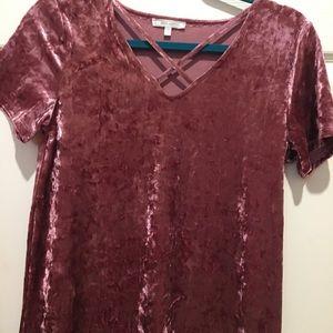 Mauve velvet shirt